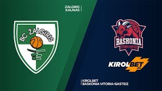 Zalgiris Kaunas - KIROLBET Baskonia Vitoria-Gasteiz Highlights |  EuroLeague, RS Round 1