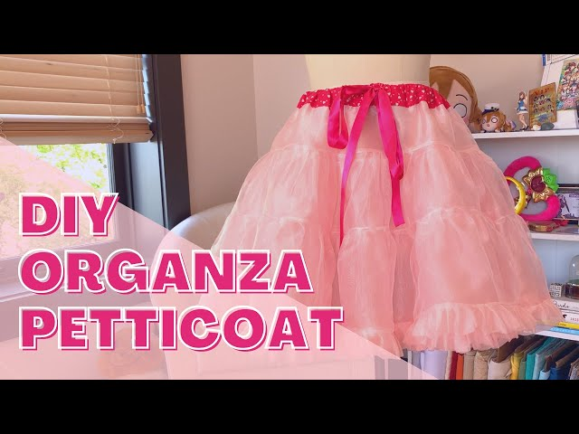 How to Make a DIY Organza Petticoat - Wedding Ichigo Build Log Part 1