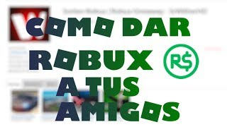 HOW TO GIVE ROBUX TO YOUR FRIENDS! Roblox - SrWitherHD