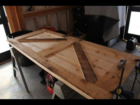 How To Build A Board and Batten Door - YouTube