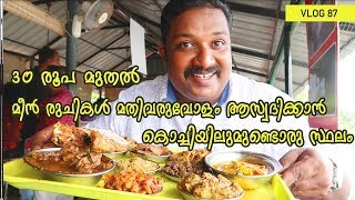 Enjoy all the ample taste of the fish at 30 Rs onwards| Kerala Tour videos|Periyar Restaurant Cochin