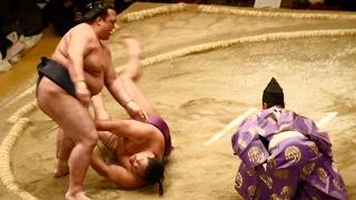 2017.02.05日本大相撲トーナメント第四十一回大会①③稀勢の里VS貴ノ岩(優...