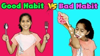 Pari's Good Habit Vs Bad Habit | Funny Kids Video | Pari's Lifestyle