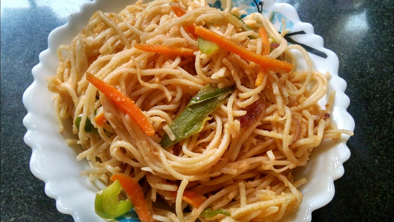 How to prepare vegetable noodles at home in tamil
