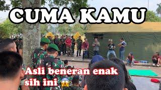 Cuma kamu 💝 pengamen alay & trio wok wok memukau penonton TNI bikin goyang asik