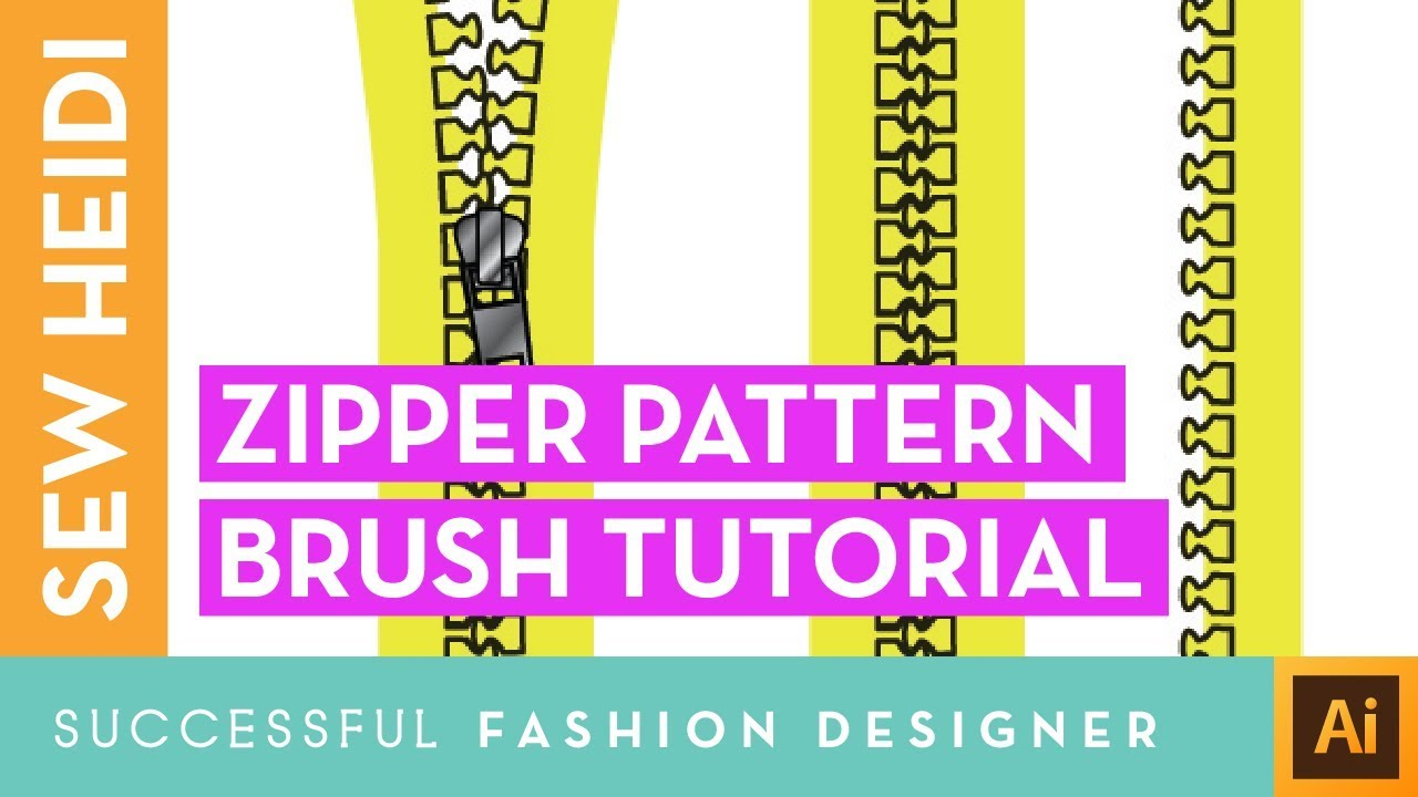 Zipper Tooth Pattern Brush in Illustrator - YouTube
