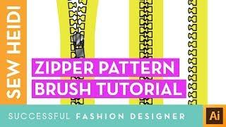 Zipper Tooth Pattern Brush in Illustrator