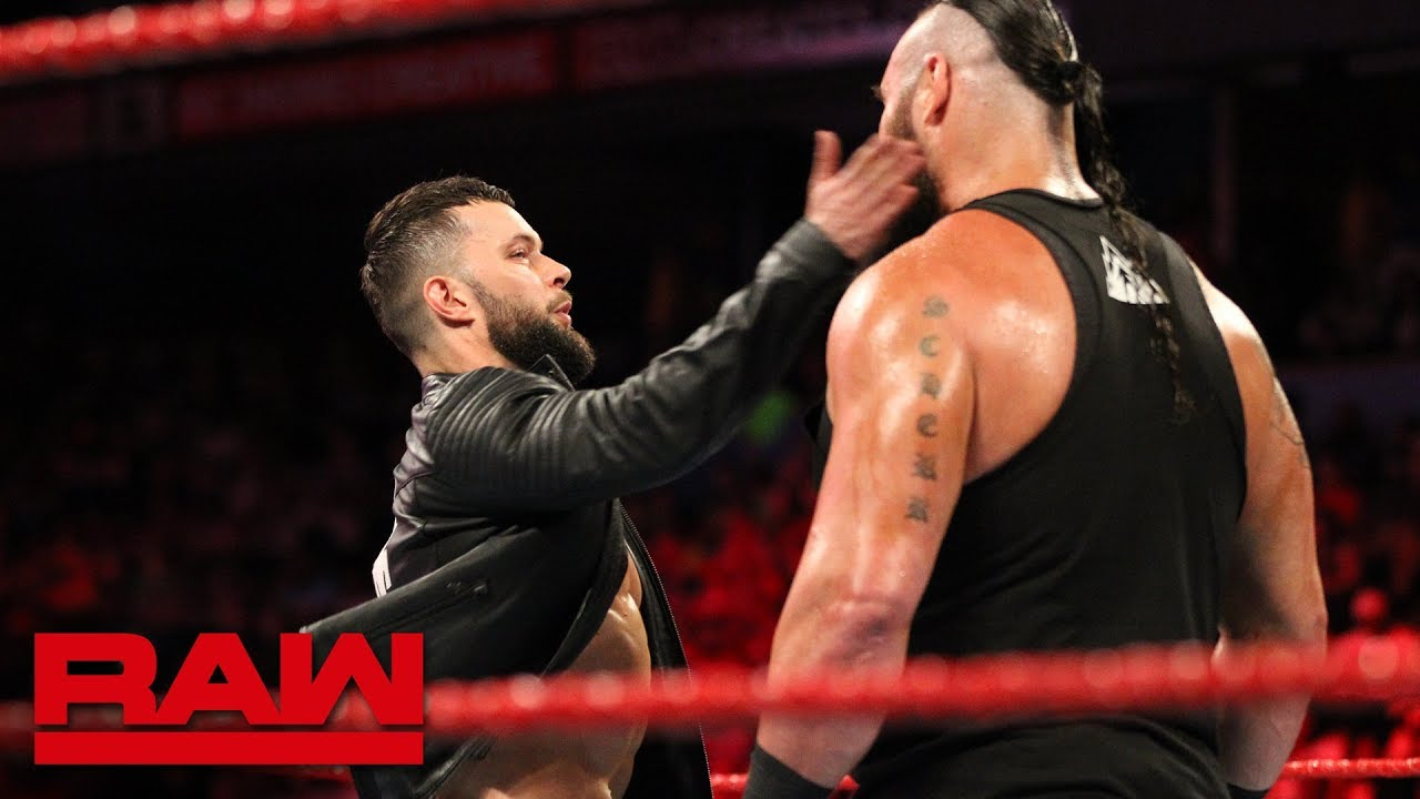 Finn Bálor slaps Braun Strowman: Raw, May 28, 2018