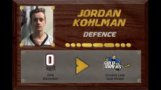 Jordan Kohlman - CSSHL to NOJHL | Stand Out Sports Client Hall of Fame