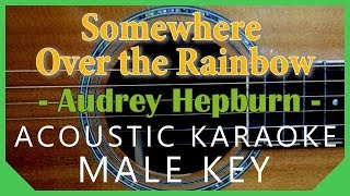Somewhere Over the Rainbow - Judy Garland[Acoustic Karaoke | Male Key]