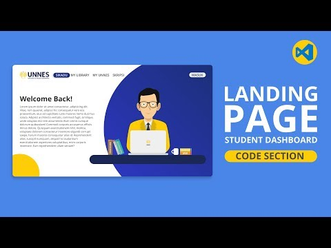 002 | How To Create Landing Page For Student Dashboard Website Modern SVG Background HTML & CSS