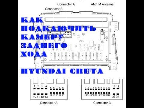 АВТО КАМЕРА ЗАДНЕГО ВИДА (ХОДА) ШТАТНАЯ как подключить к новой магнитоле Hyundai Creta САМОМУ