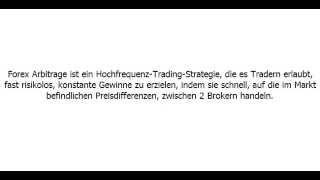 Einführung Forex Arbitrage EA
