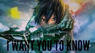 Sword Art Online II AMV ~ I Want You To Know