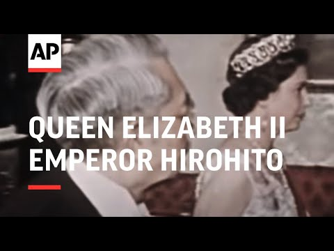 Queen Meets Emperor Hirohito In London