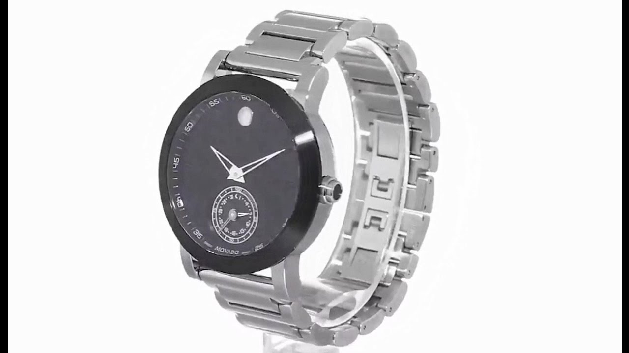Movado Men S 0660001 Stainless Steel Smart Watch With Black Dial