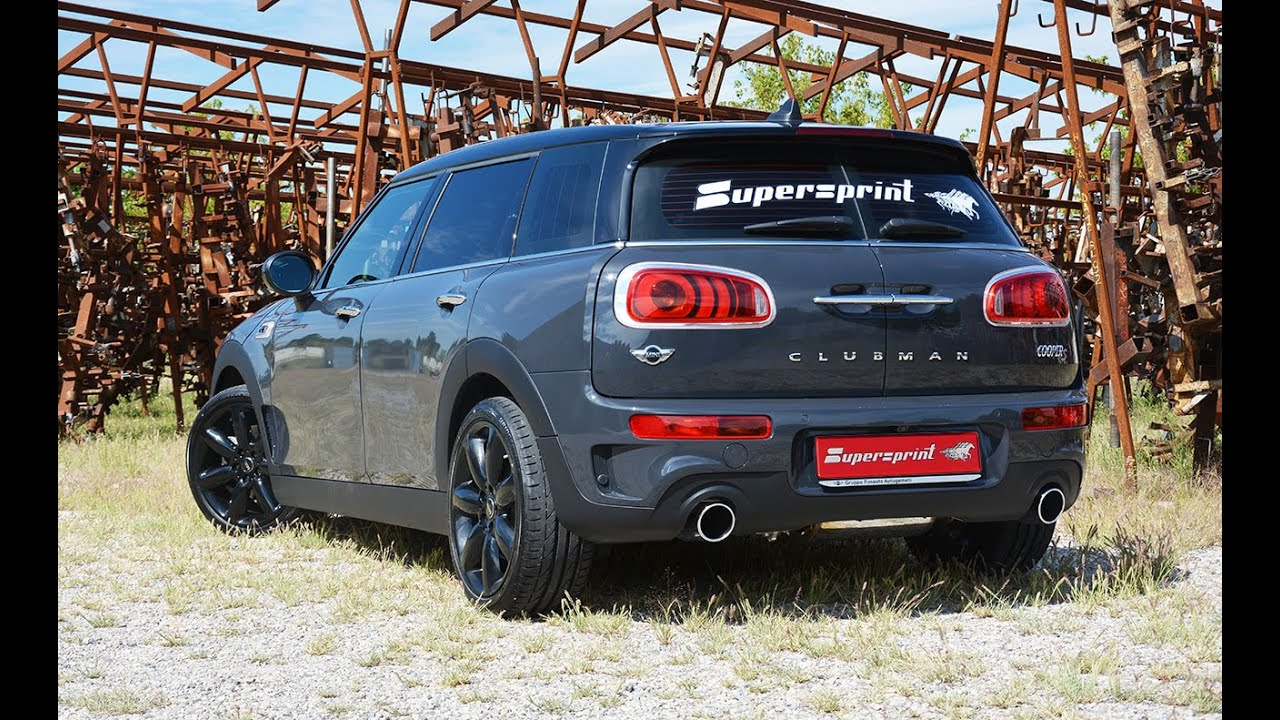 mini cooper clubman s f54 supersprint exhaust with. Black Bedroom Furniture Sets. Home Design Ideas