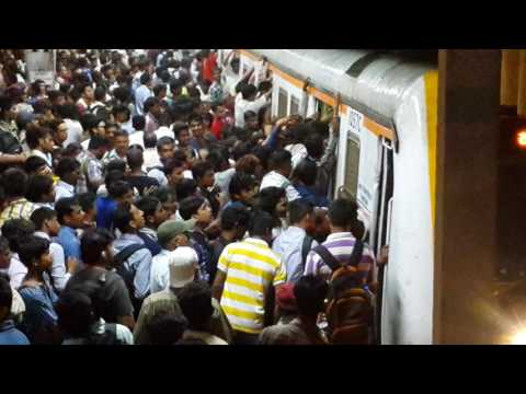 India's Most Crowded Station In Mumbai. Central Railway's Dadar Station At Night In Monsoon