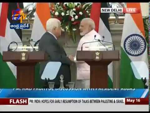PM Modi, Palestine President Mahmoud Abbas hold talks