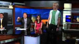 Laura Marano & Ross Lynch on KTLA (1/23/2012)