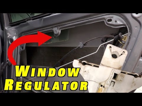 How To Replace VW Window Regulator ~ 2005 Passat Rear WINDOW