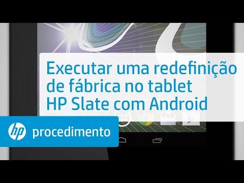 Executar uma redefinição de fábrica no tablet HP Slate com Android