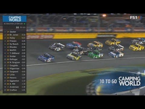 NASCAR Camping World Truck Series 2018. Charlotte Motor Speedway. Last Laps