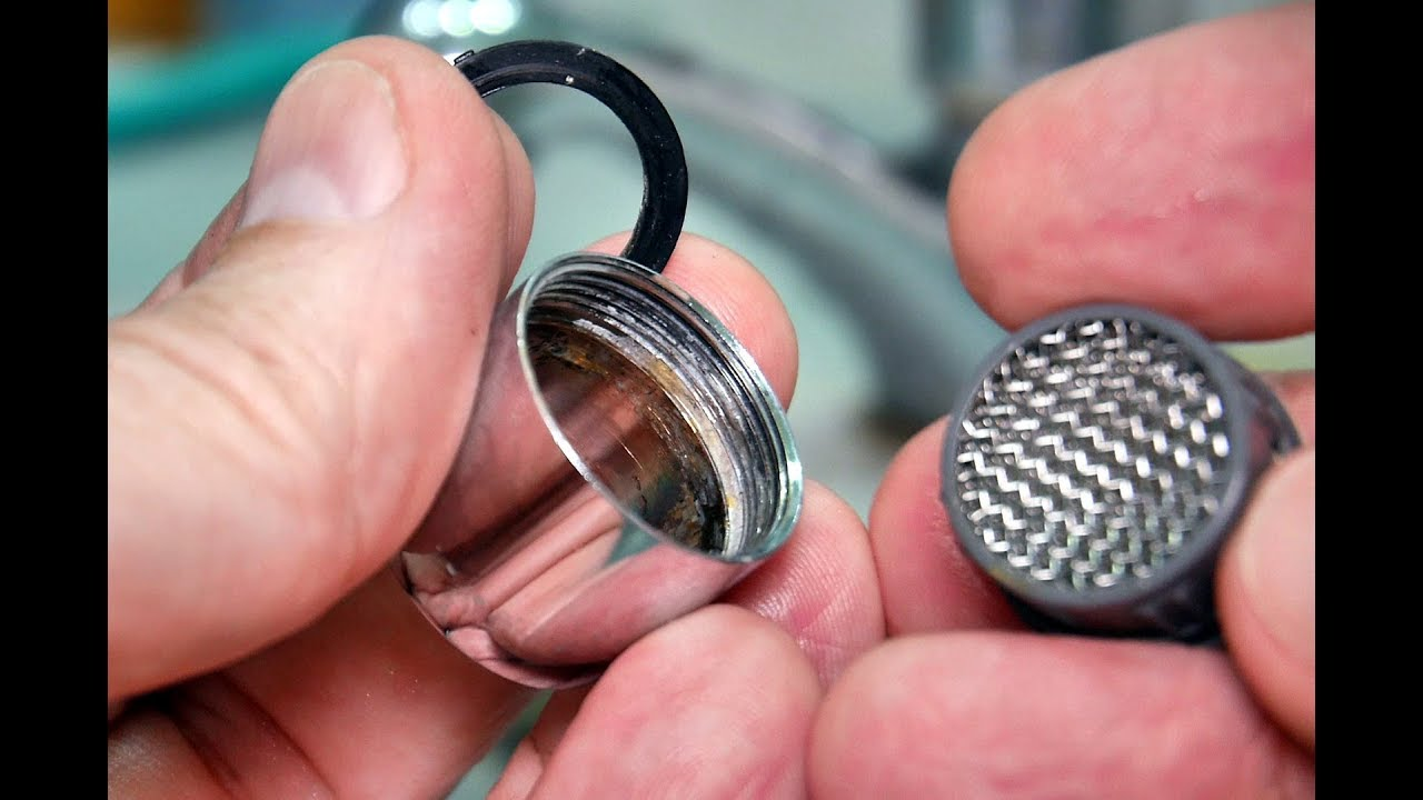 Faucet Aerator Cleaning Youtube