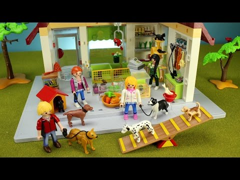 playmobil-city-life-pet-store-playset-with-dogs,-animals---fun-toys-for-kids