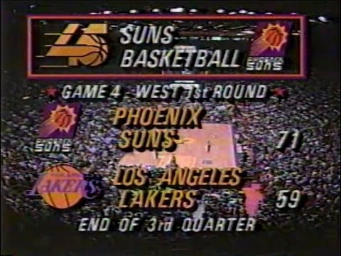 Phoenix Suns @ LA Lakers - Rd 1, Gm 4, 1993 NBA Playoffs - 5/6/93 (STARTING IN MIDDLE OF 3RD QTR)