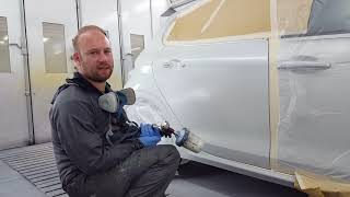 Car Painting: Peugeot (efc) white pearl.
