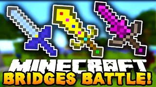 """Minecraft BRIDGES BATTLE """"EPIC WIN!"""" #5 - w/ PrestonPlayz, Lachlan & MrWoofless"""