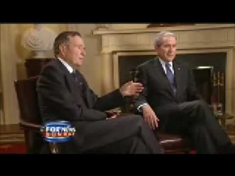 First joint interview of 41st and 43rd presidents - Father and Son   P - 2
