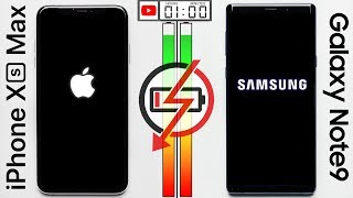iPhone XS Max vs. Galaxy Note 9 Battery Test