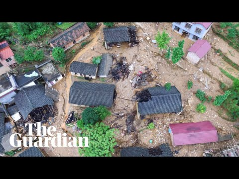 China Landslide Sweeps Cars Away As Floods Kill Dozens