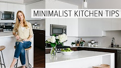 CREATING A MINIMALIST KITCHEN | clean, declutter and simplify