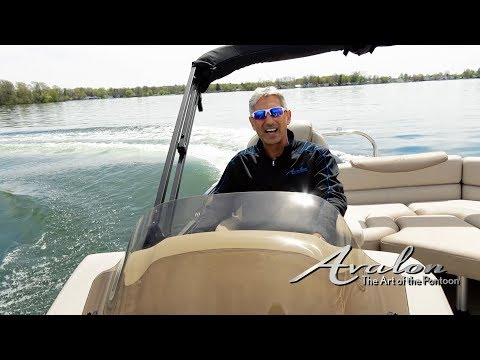 8) How to Accelerate & Turn a Pontoon Boat | 2017 Avalon Luxury Pontoons