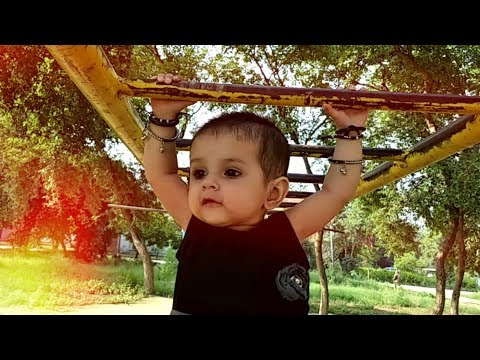 cute baby hanging on garden   Aashvi Malik