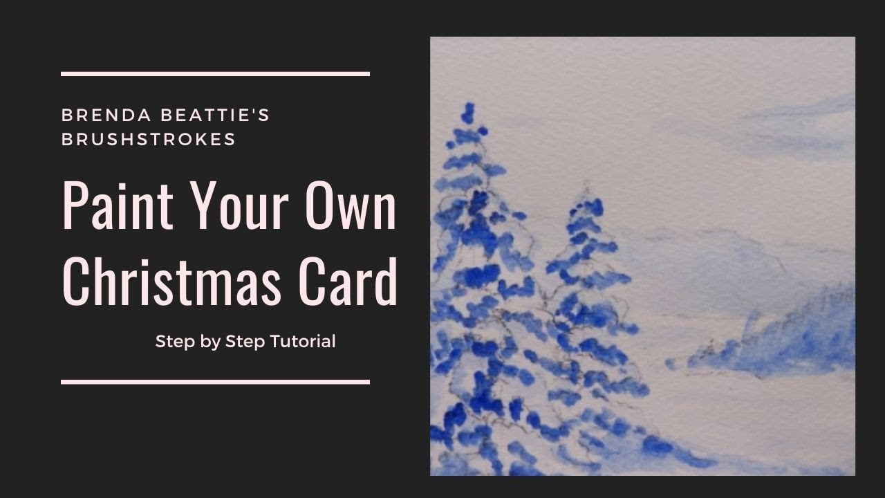 Paint Your Own Christmas Cards - YouTube