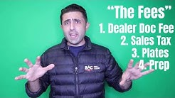 Car Dealer FEEs you have to / shouldn't pay! #CarBroker