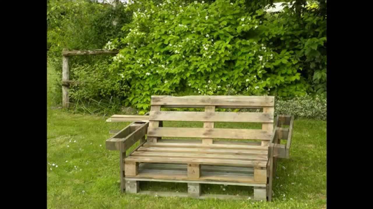 Banc de palette youtube for Bricoler dans le jardin