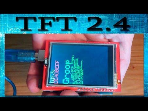 Экран (дисплей) TFT 2.4 дюйма, решение проблемы