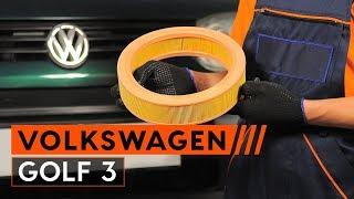 VW GOLF III (1H1) Légszűrő beszerelése: ingyenes videó