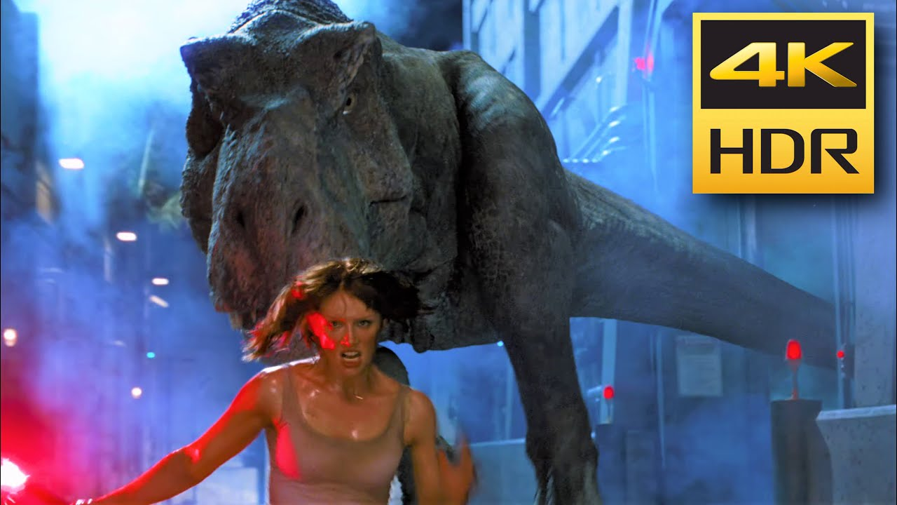 4K HDR • Claire faces T-Rex (Jurassic World)