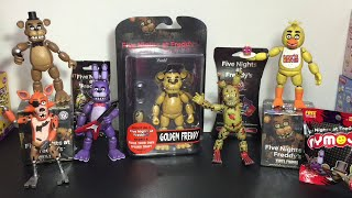 Five Nights at Freddy's Golden Freddy Funko action figure, Mystery Minis, cards, Dog Tag & Mymoji