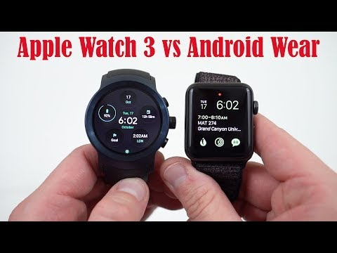 Apple Watch Series 3 LTE vs LG Watch Sport, WatchOS vs Android Wear