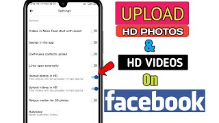 How to Upload HD Photos  HD Videos on Facebook 2020