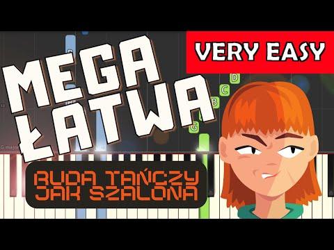 🎹 Ruda tańczy jak szalona (CZADOMAN) - Piano Tutorial (MEGA ŁATWA wersja) 🎹