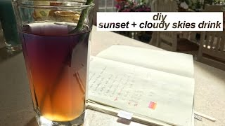 sunset + cloudy drink