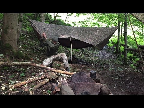 2 NIGHTS WET SOLO HAMMOCK CAMPING AT THE OLD ROMAN WOODS